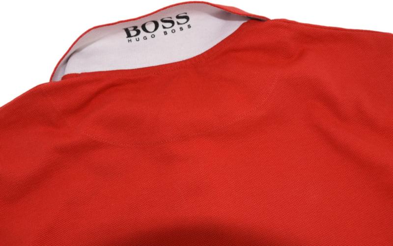 koszulka polo HUGO BOSS firmowy napis z tyłu kołnierzyka
